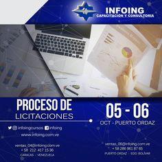 @InfoingCursos #licitaciones    CURSO PROCESO DE LICITACIONES  * 5 y 6 de octubre de octubre del 2017 * Puerto Ordaz, Venezuela  INFOING * Teléfonos: Caracas: + 58 (212) 417.1536 / Puerto Ordaz: + 58 (286) 961.8765 * Correo: ventas_04@Infoing.com.ve * Twitter: @InfoingCursos  * http://www.Infoing.com.ve   #gerencia #PuertoOrdaz #InCompany  #Presencial #expodato #Pzo