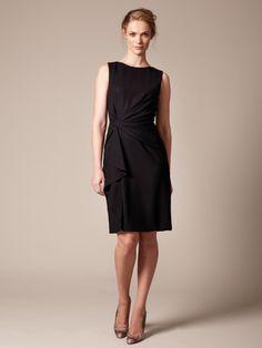 Carolina Herrera   Wool Crepe Cinched Drape Dress