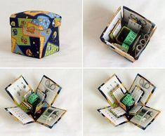 Como fazer uma caixa de costura. Bem simples de fazer e original! #diy