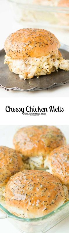 Cheesy chicken melts are the newest craze! You have to try them asap! That honey mustard sauce...yum!