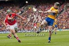 Cork and Clare in action during the 2013 All-Ireland Senior Hurling Final Croke Park, My Favorite Image, Athletes, Cork, Ireland, Coaching, Action, Running, Sports