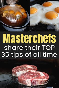 Masterchefs share their top 35 tips of all time