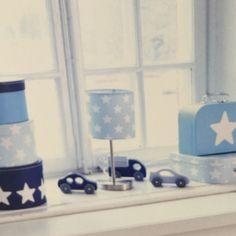 Star bordlampa - blå 1 HemmetsHjarta