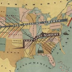 John F. Smith's anti-slavery #map (1888) - http://www.bigmapblog.com/2012/john-f-smiths-anti-slavery-map-1888/