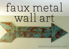 faux metal wall art