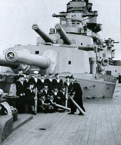 A and B turrets, HMS Hood 1940