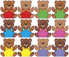 CLASSIC ACCENTS MINI BEARS VARIETY PK - These little accents offer big variety and value! Choose Mini Accents Variety Packs for learning activities such as patterning and sequencing, place on calendars to mark special days and events, or add a special tou Classroom Charts, Graphing Activities, Teaching Colors, Color Games, Lessons For Kids, Childhood Education, Brown Bear, Light In The Dark, Preschool
