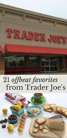 21 offbeat favorites to buy at Trader Joe's.