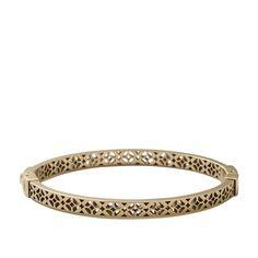 FOSSIL Jewelry Bracelets: Women Signature Bangle – Gold-Tone $58