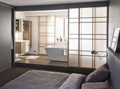 Parental Suite: 10 amenities to inspire and dream - Andrea Silva Ruiz - - Suite parentale : 10 aménagements pour s'inspirer et rêver parental room. Home, Home Bedroom, Suite, Couple Bedroom, Interior, Open Bathroom, Room, Bathroom Design, Home Deco
