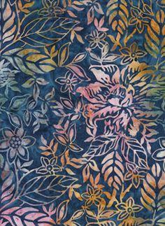 Blueberry Dahlia batik