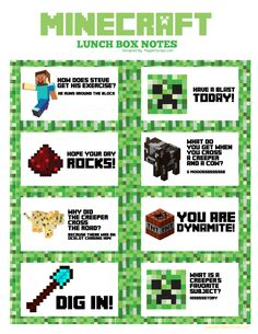 Minecraft-Lunchbox-Notes