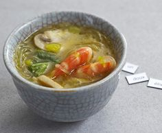 Recette Soupe thaï aux crevettes par thermomix - recette de la catégorie Soupes
