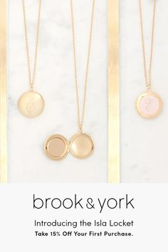 Save 15% on your first order with coupon code PNST15. New to the b&y jewelry collection, the customizable Isla Locket is a stylish and sophisticated pendant that is perfect to complete your look. Long enough to layer with other favorite necklaces, you'll discover a timeless style you'll love! Each piece is beautifully crafted right here in the U.S.A.