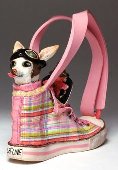 Doubt this is a functional teapot, but it literally made me LOL: Rocket Doggie Dog by Meryl Ruth