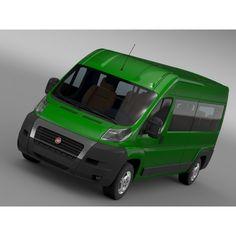 Fiat Ducato Maxi Bus L4H2 2006 - 3D Car for Maya