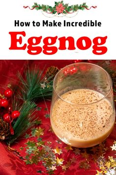 Our boozy Bourbon Eggnog recipe is both decadently delicious and ridiculously easy to make for just two people. | eggnog | bourbon eggnog | spiked eggnog | alcoholic eggnog | eggnog cocktail | eggnog recipe | eggnog drink | christmas cocktail