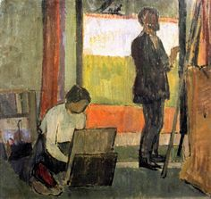 """Vanessa Bell """"Frederick and Jessie Etchells Painting"""" 1912 The Tate Gallery"""