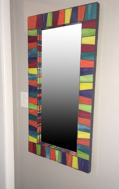 Stained glass mosaic mirror, x Mosaic Crafts, Mosaic Projects, Stained Glass Projects, Stained Glass Art, Mirror Mosaic, Mirror Art, Mosaic Art, Mosaic Glass, Rustic Mirrors