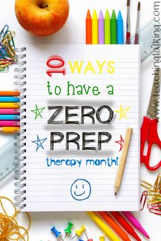 A whole month of speech therapy without preparation? Yep...no prep...zero...zilch! Here are 10 ideas & tips you can use to free up some time without sacrificing quality. I love #9!
