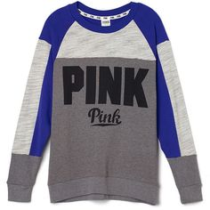 Collegiate Crew PINK ($55) ❤ liked on Polyvore featuring tops, t ...