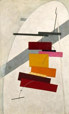 Lissitzky, El (1890-1941) - 1919-20c. Untitled (Peggy Guggenheim Collection, Venice, Italy)  Oil on canvas; 79.6 x 49.6 cm.