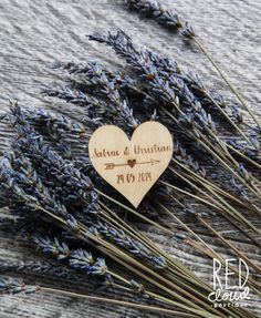 75 Customized Engraved Wooden Heart & Arrow Save the Date Wedding Magnet Favors on Etsy, $138.41 AUD
