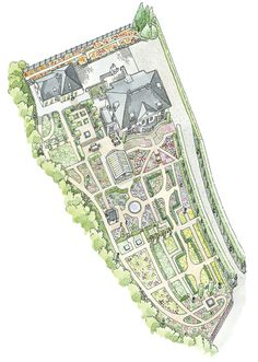 Drawing of Claus Dalby's Garden