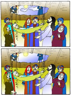 NT - Paralytic man - differences Miracles Of Jesus, Through The Roof, Sunday School Crafts, Edd, Free Printables, Bible, Clip Art, Homes, Activities
