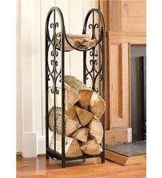 Indoor/Outdoor Montebello Log Rack And Cover