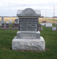 Tombstone Tuesday–Jacob & Mary (Kettering) Becher #genealogy