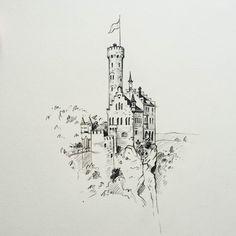 Interesting one by art_process #landscape #contratahotel (o) http://ift.tt/28PGaGo on the rock #castle #nature #art #sketch #draw #drawing #artwork #artbook #illustration #pencilart #pencil #sketchblog #sketchbook #blackandwhite #artoftheday #pencildrawing #macro #арт #рисунок #иллюстрация #творчество #скетч #карандаш #замок