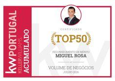 Top 50 a nível nacional em volume de negócios acumulado a Julho de 2016