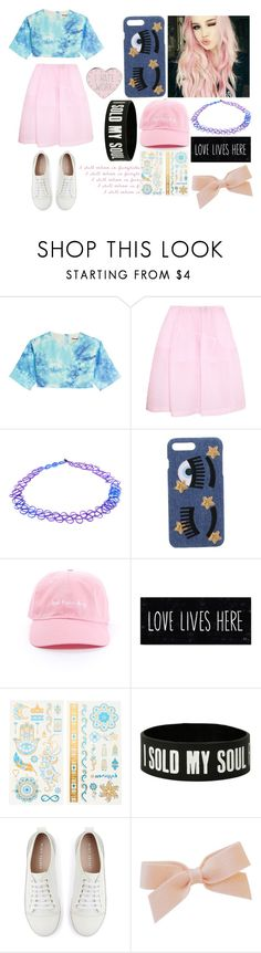 """""""I Still Believe In Fairytales"""" by sconesareawesome-iggybrows ❤ liked on Polyvore featuring FAUSTO PUGLISI, Simone Rocha, Accessorize, Chiara Ferragni, claire's and Mint Velvet"""