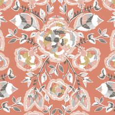 Hawthorne Threads - Coyote - Stitch Floral in Desert Rose