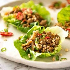 Close up of Chinese Lettuce Wraps