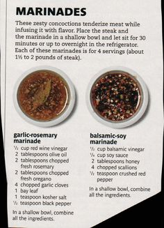 Zesty Marinade Recipes