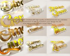 10 3D Text Effects by nayla2012 on Creative Market