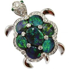 Luthine opal tortoise brooch by Marchack ~ an opal turtle...Grandma would have loved this...