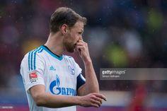 Benedikt Hoewedes of Schalke reacts during the Bundesliga match between SC Freiburg and FC Schalke 04 at Schwarzwald-Stadion on May 7, 2017 in Freiburg im Breisgau, Germany.