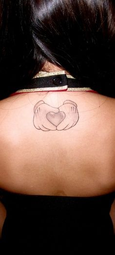 mickey mouse scroll tattoos - Google Search