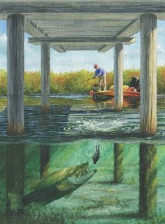 Skipping a jig with baitcasting equipment is not easy. But learning this trick — and knowing exactly where to employ it — will make you a more successful bass angler. Bass Fishing Tips, Gone Fishing, Best Fishing, Trout Fishing, Kayak Fishing, Fishing Rods, Fishing Basics, Fishing Tricks, Fishing Stuff