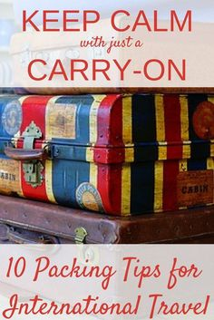 Free Resource: KEEP CALM with Just a CARRY-ON. What to take and what to leave at home. Packing for Europe in a carry on. via /https/://www.pinterest.com/Captiv8Compass/