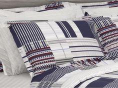 Kit: 1 Cobre-leito Casal + 2 Portas-travesseiro 150 fios - Rich (2) Azul - Kacyumara | Vida e Cor