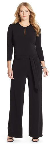 Ralph Lauren Woman Jersey Wide-Leg Jumpsuit