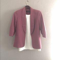 Love Culture Blazer Cute Dark Blush blazer with a great fit.  Size Love Culture Jackets & Coats Blazers