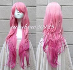 New Fashion Gradient Pink Mixed Wavy Long Anime Cosplay Wig 80cm Free Shipping | eBay Cosplay Wigs, Best Cosplay, Anime Cosplay, Anime Wigs, Long Curly, Hair Colors, Wavy Hair, New Fashion, Hairstyle