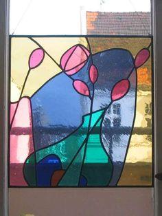 Antik-Farbglas-Bild