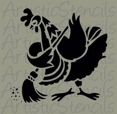 Little Hen Stencil Wood Burning Stencils, Wood Burning Crafts, Wood Burning Art, Paper Cutting, Vinyl Cutting, Little Hen, Silhouette Pictures, Bird Stencil, Silhouette Cameo Projects