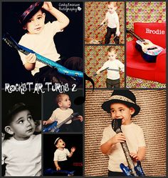 Rockstar Kid Birthday Shoot  @Lisa Zitner Love me some Brodie.